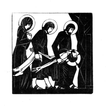 The Body of Jesus is Laid in the Tomb 1917 by Eric Gill 1882-1940