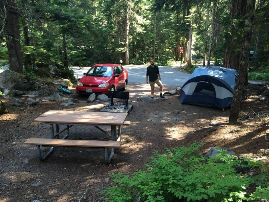 Our campsite at Mount Rainier National Park.